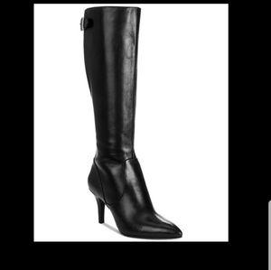 ANNE KLEIN💟Maarmand Point Toe Kitten Heel Leather